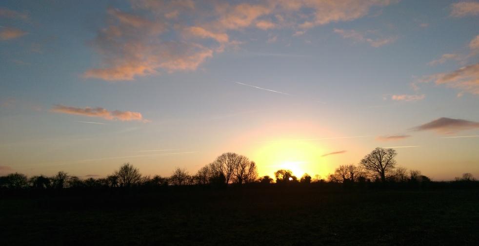 sunset sprin in norfolk